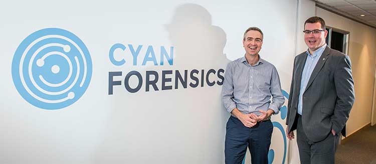 From left - Paul Devlin, Investment Manager, Mercia Fund Managers and Ian Stevenson, CEO Cyan Forensics