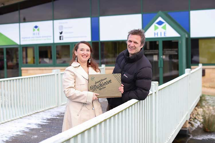 Green Grow Business Development Manager Dr Isabella Guerrini de Claire and Director Iain Findlay
