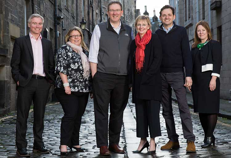 The Archangels executive team with the heads of some of the businesses that benefited from investment and advice during 2018. (Left to right) – David Ovens, Chief Operating Officer, Archangels; Sarah Lynagh, CEO, Fios Genomics; Ben Panter, CEO, Blackford Analysis; Niki McKenzie, Investment Director, Archangels; Gregor Hofer, CEO, Speech Graphics; Sarah Hardy, Chief Investment Officer, Archangels