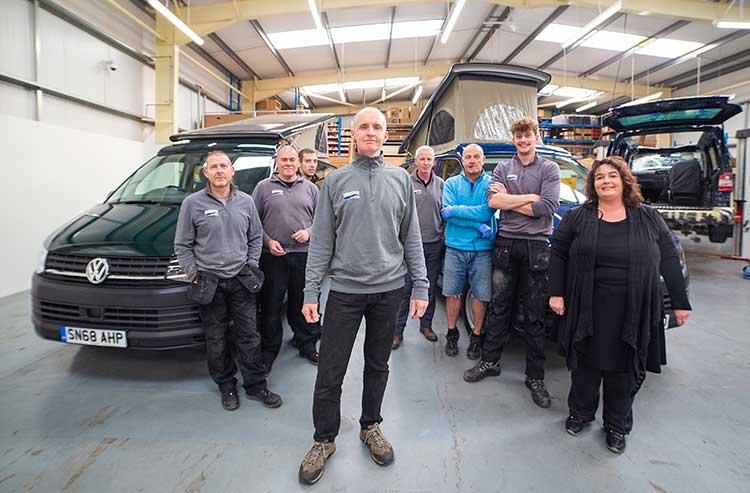 Simon Poole and his team