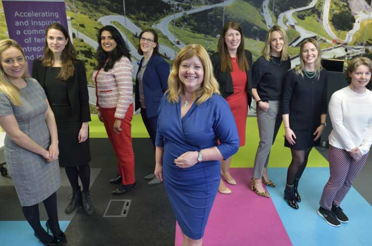 Jackie Waring, CEO of Investing Women with the finalists