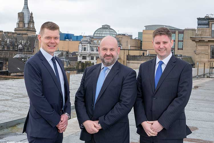 From left to right – Alistair Douglas, David Moore, Alan MacPhee