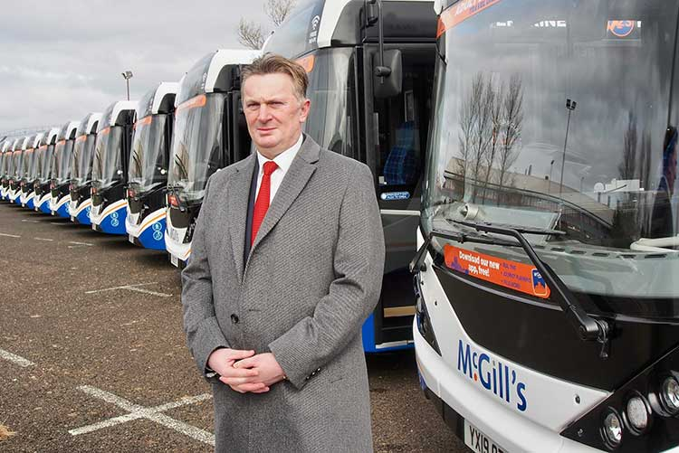 Sandy Easdale with new fleet
