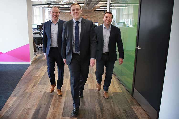 Left to right are Craig Donnelly, Neil Logan and Stuart Kerr of Incremental Group (by Stewart Attwood)