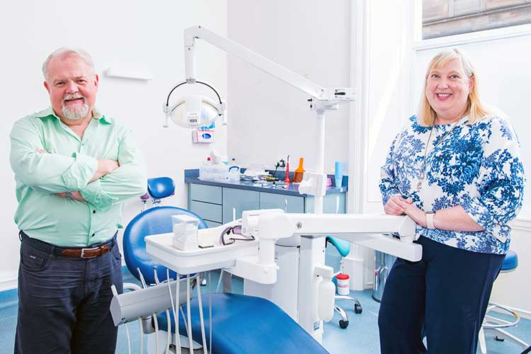 From left - Jim hall and Dr Jacqui Frederick