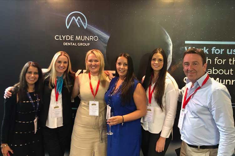 Clyde Munro Team L-R Gagan Gill, Louise Fletcher, Cheryl Reynolds, Selina Alexander, Alexandra MacNicol, Alastair Knox