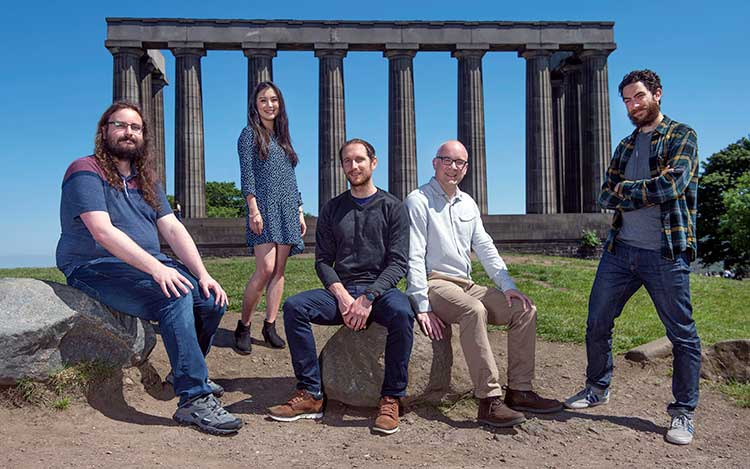 From left - Ben Ledbury, Emma Fong, Dr Thomas Gambino, Andrew Veitch and Will Wright