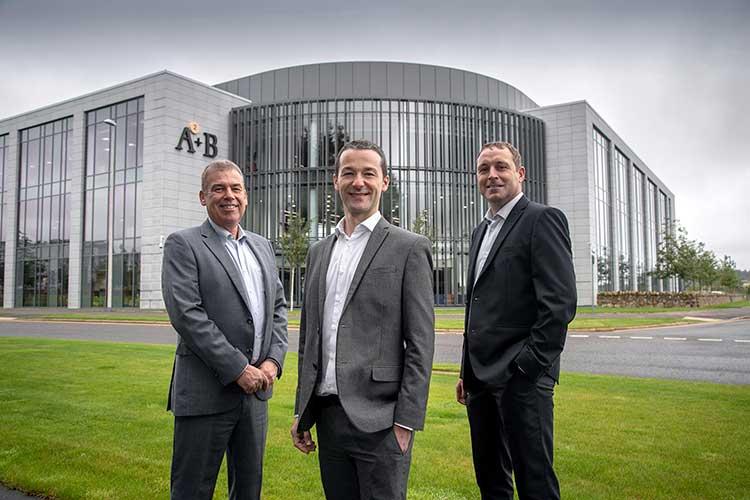From left - Robbie Gordon, Derek Mitchell and Chris Masson