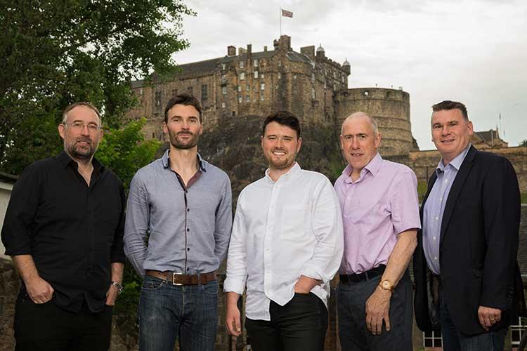 From left to right: Mark Hogarth, Steve Jeans, Michael Cockburn, Colin McCulloch, Robert Richmond